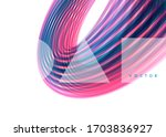 curved lines with perspective... | Shutterstock .eps vector #1703836927