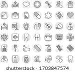editable thin line isolated... | Shutterstock .eps vector #1703847574