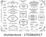 calligraphic design elements .... | Shutterstock .eps vector #1703860417