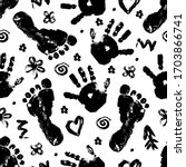 Imprint Of Baby Palm And Foot...