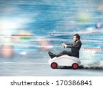 concept of fast internet with... | Shutterstock . vector #170386841
