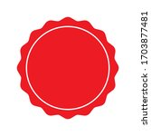 red stamps vector icon isolated ... | Shutterstock .eps vector #1703877481
