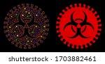 glossy mesh virus hazard with...   Shutterstock .eps vector #1703882461