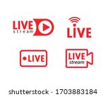 set of live streaming icons.... | Shutterstock .eps vector #1703883184