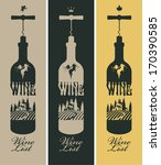 banners set with a bottle of... | Shutterstock .eps vector #170390585