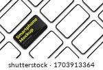 realistic phone mockup. modern...   Shutterstock .eps vector #1703913364