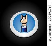 vector pixel art hand sign rock ... | Shutterstock .eps vector #170391764