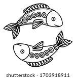 twelfth astrological sign ... | Shutterstock .eps vector #1703918911