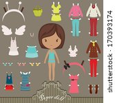 Dress Up Paper Doll With Body...
