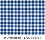 White Blue Squared Pattern...
