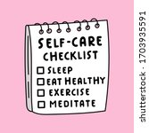 Illustration About Self Care....