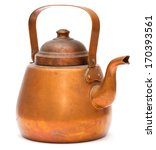 Vintage Copper Kettle Isolated...