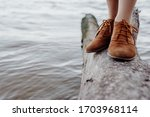 A Girl In Brown Leather Boots...
