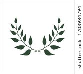 vector two branches. eco banner ... | Shutterstock .eps vector #1703984794