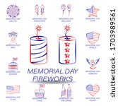 memorial day fireworks colored...
