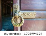 Ld Wooden Gate Closed On A...