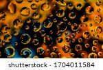 wather droplets on glass that... | Shutterstock . vector #1704011584