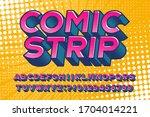 comic strip alphabet font.... | Shutterstock .eps vector #1704014221