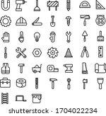 construction tool icon. hammer... | Shutterstock .eps vector #1704022234