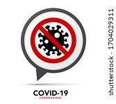 sign caution coronavirus. stop... | Shutterstock .eps vector #1704029311