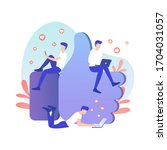 like it concept illustration of ... | Shutterstock .eps vector #1704031057