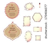 two labels and set of the... | Shutterstock .eps vector #170406077