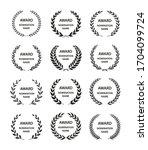 award wreaths.  1st  2  3 ...   Shutterstock .eps vector #1704099724