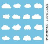 cloud white set isolated on... | Shutterstock .eps vector #1704103231