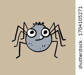 Spider Character. Vector...