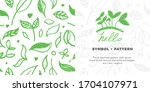 vector organic food symbol with ... | Shutterstock .eps vector #1704107971