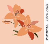 art collage lily flower in a... | Shutterstock .eps vector #1704109531