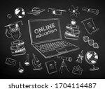 vector black and white chalk... | Shutterstock .eps vector #1704114487