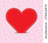 valentines day background with... | Shutterstock .eps vector #170412674