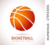 vector basketball isolated on a ...   Shutterstock .eps vector #170414201
