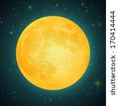illustration of a full moon  on ...   Shutterstock .eps vector #170414444
