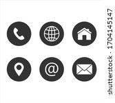 contact us icon  web  blog and... | Shutterstock .eps vector #1704145147