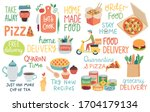 food and quarantine covid 19... | Shutterstock .eps vector #1704179134