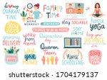 coronavirus covid 19 letterings ... | Shutterstock .eps vector #1704179137