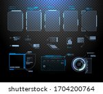futuristic vector hud interface ... | Shutterstock .eps vector #1704200764