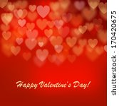 valentine's day background with ... | Shutterstock . vector #170420675