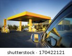 car in gas station. reflection... | Shutterstock . vector #170422121