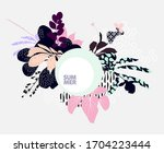 floral abstract composition.... | Shutterstock .eps vector #1704223444