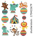 cute circus animals collection. ... | Shutterstock .eps vector #170422679
