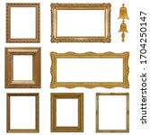 set of golden frames for...   Shutterstock . vector #1704250147