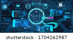 vr head up display with... | Shutterstock .eps vector #1704262987