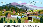 nature. vector illustration of... | Shutterstock .eps vector #1704277117
