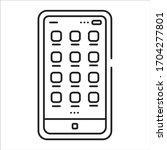 mobile ui design black line...