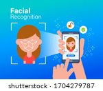 face id  facial recognition ... | Shutterstock .eps vector #1704279787