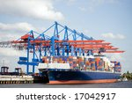 container ship in port terminal ... | Shutterstock . vector #17042917
