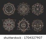 vector set of sacred symbols... | Shutterstock .eps vector #1704327907